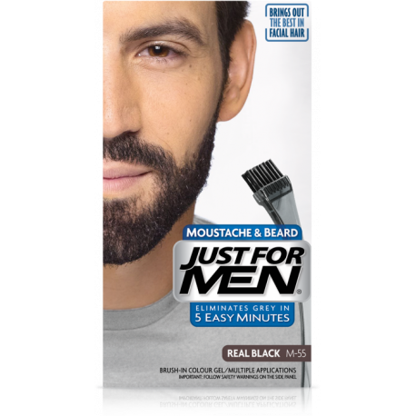 Just For Men M-55  NATURALNA CZERŃ / Żel: Broda,Wąsy,Baki